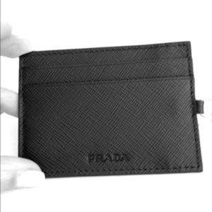 Prada- Authentic card holder black